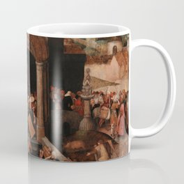 Christ Driving the Traders from the Temple, Pieter Bruegel the Elder Coffee Mug
