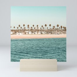 Vintage Newport Beach Print {1 of 4} | Photography Ocean Palm Trees Teal Tropical Summer Sky Mini Art Print