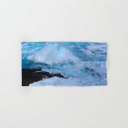 Tropical Hawaii Island Crashing Waves and Bubbling Surf Hand & Bath Towel