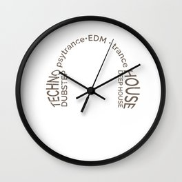 EDM Techno Electronic Dance Music Club Disco Party DJ Dancing Clubbing Gift Wall Clock