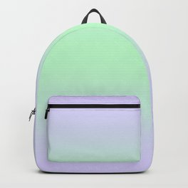 Pale Violet to Mint Green Bilinear Gradient Backpack