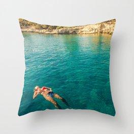 floater Throw Pillow