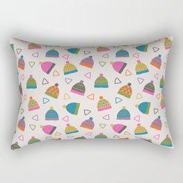 Beanie Print Rectangular Pillow