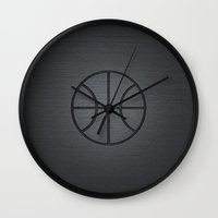 lakers Wall Clocks featuring BASKETBALL- basketball by Raisya