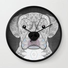 White Boxer Wall Clock