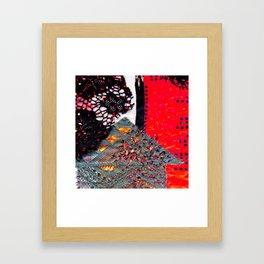 Shocking autumn house Framed Art Print