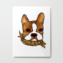 Rocco The Boston Metal Print