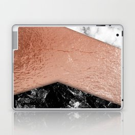 Rose Gold foil and marble Laptop & iPad Skin