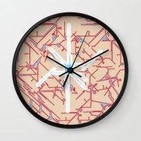 technology Wall Clocks featuring technology by daniel