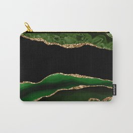 Emerald Marble Glamour Landscapes Carry-All Pouch