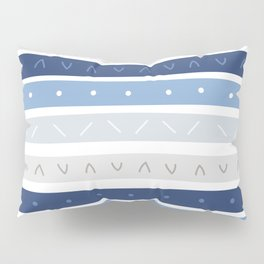 Bowie Blue Stripe Pillow Sham