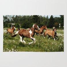 Spring Horse Run Rug