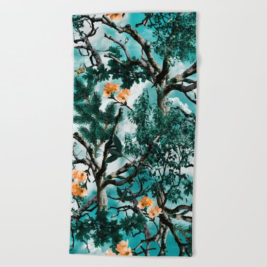 Natural Camouflage Beach Towel