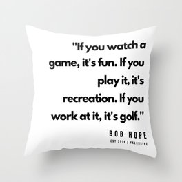 17    | Golf Quotes | 190606 Throw Pillow