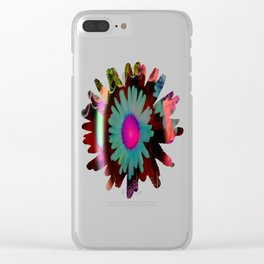 Tripping Daisies Clear iPhone Case