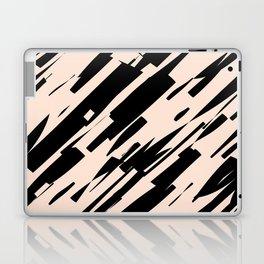 black & pale peach /geometric series Laptop & iPad Skin