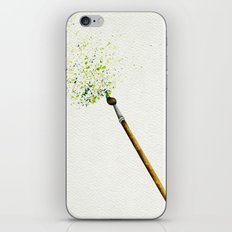 Feathers & Flecks (Canvas Background Edition) iPhone & iPod Skin