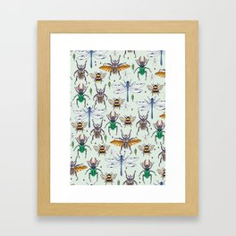 lucky insects Framed Art Print