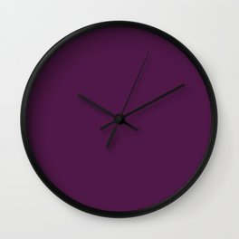 Loulou   Beautiful Solid Interior Design Colors Wall Clock