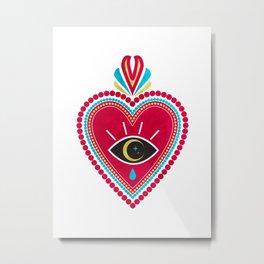 Ex Voto Sacred Heart Metal Print