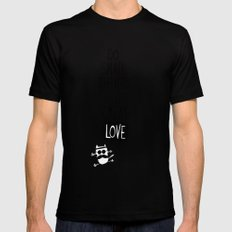 do small things with great love Mens Fitted Tee Black MEDIUM