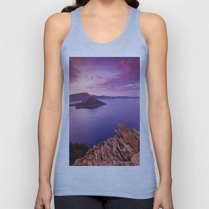 Crater Lake Sunset Unisex Tank Top