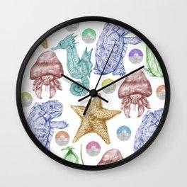 Pocket Monster Pattern Wall Clock