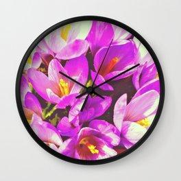 Spring lilla Wall Clock
