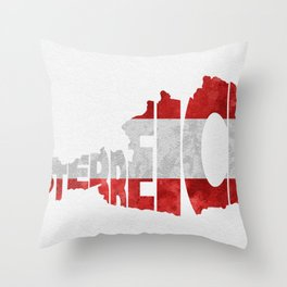 Austria (Österreich) Typographic World Map / Austria Typograpy Flag Map Art Throw Pillow