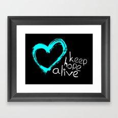 keep hope alive Framed Art Print