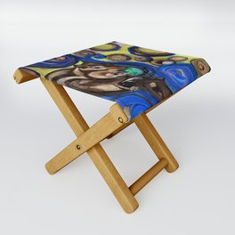Chipmunk Eats World Folding Stool