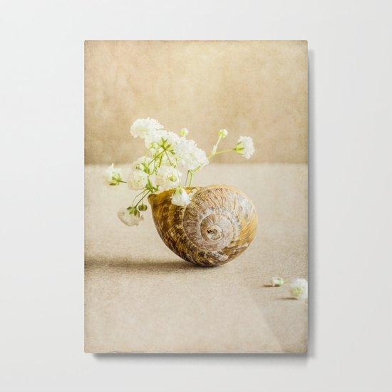 Wee Vase Metal Print