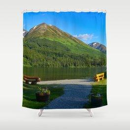 Summit Lake - Kenai Peninsula, Alaska Shower Curtain