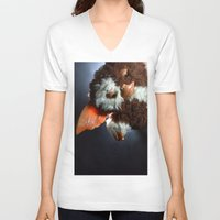 gizmo V-neck T-shirts featuring Gizmo  by Erika VBL