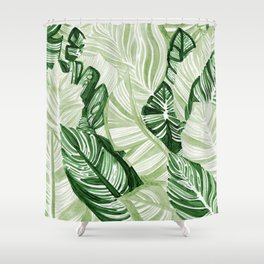 Assorted Leaves Shower Curtain