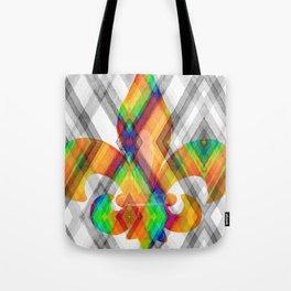 Fleur De Lis Diamond Pattern Tote Bag