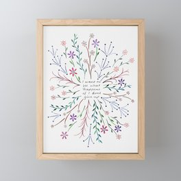 I want to see what happens if I don't give up Framed Mini Art Print