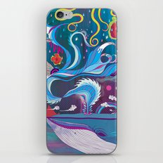 Every Time a Whale Blows Their Spout, a New Dream is Born. iPhone & iPod Skin