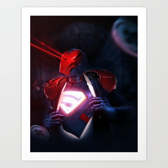 IRON MASH // Iron (SUPER) Man  Art Print