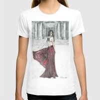 milan T-shirts featuring Fashion model in Milan by ArtSelena