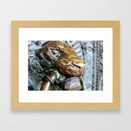 This Lion Knocks - Montmarte - Paris France Framed Art Print
