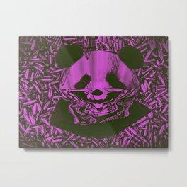 Purple Gangsta Panda Metal Print