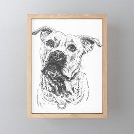 Angelic Pitbull Framed Mini Art Print