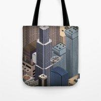 metropolis Tote Bags featuring Metropolis by Soak