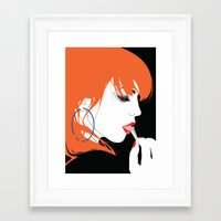 jenna kutcher Framed Art Prints featuring JENNA by We Are Robotic