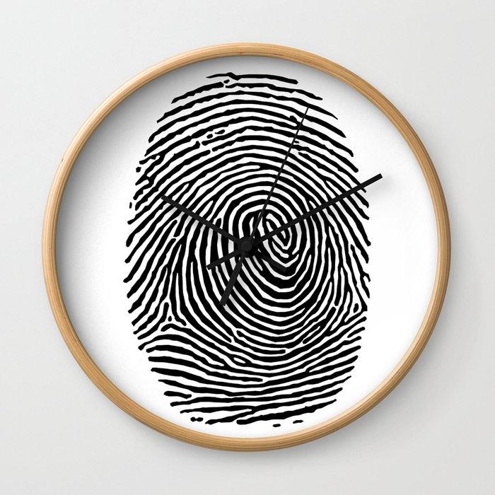 Fingerprint CSI crime scene Wall Clock