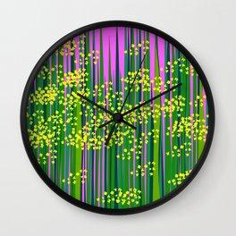 vivid mustard field Wall Clock