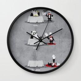 Eating Habits of the Panda Wall Clock
