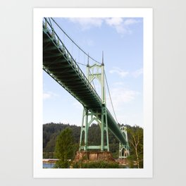 St John's Bridge Portland Art Print