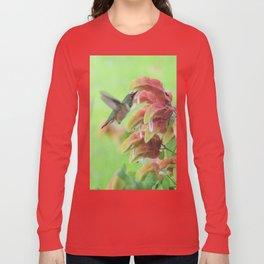 Hummingbird in Justicia Long Sleeve T-shirt